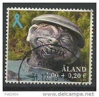 Aland 2013 N°383 Oblitéré  Ruban Bleu Avec Surtaxe - Aland