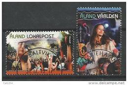 Aland 2013 N°379/380 Oblitérés  Festivals De Musique - Aland