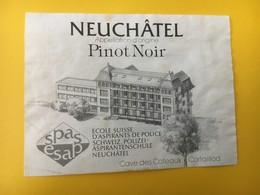 8847 - Ecole Suisse D'aspirants De Police Neuchâtel Pinot Noir Cave Des Côteaux Cortaillod - Etiquettes