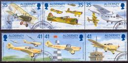 ALDERNEY 1995 SG A78-A83 Used Compl. Set In Two Horiz.strips Of 3 Tommy Rose - Alderney