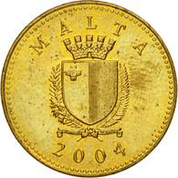 Monnaie, Malte, Cent, 2004, British Royal Mint, TTB, Nickel-brass, KM:93 - Malte