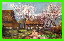 PEINTURES - LES POMMIERS EN FLEURS -  THE E. L. SERIES 1056 - ÉCRITE EN 1911 - - Peintures & Tableaux