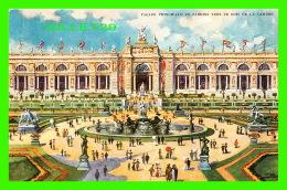 EXPOSITIONS - UNIVERSELLE ET INTERNATIONALE DE BRUXELLES 1910 - FAÇADE PRINCIPALE & JARDINS VERS LE BOIS DE LA CAMBR - Expositions