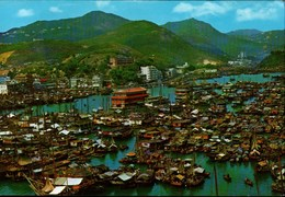 ! Ansichtskarte 1966 Hongkong, Hong Kong, Aberdeen, Harbour - Chine (Hong Kong)