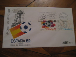 MADRID 1980 FDC Cancel Cover SPAIN Football 1982 World Cup Championship Futbol Football - 1931-Aujourd'hui: II. République - ....Juan Carlos I
