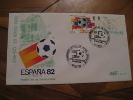 OVIEDO Asturias 1980 FDC Cancel Cover SPAIN Football 1982 World Cup Championship Futbol Football - 1931-Aujourd'hui: II. République - ....Juan Carlos I