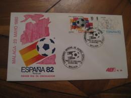 MALAGA 1980 FDC Cancel Cover SPAIN Football 1982 World Cup Championship Futbol Football - 1931-Aujourd'hui: II. République - ....Juan Carlos I