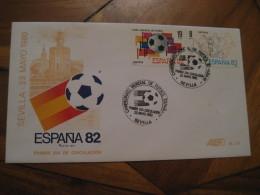 SEVILLA 1980 FDC Cancel Cover SPAIN Football 1982 World Cup Championship Futbol Football - 1931-Aujourd'hui: II. République - ....Juan Carlos I