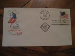 American Flag HONOLULU Hawaii 1960 FDC Cancel Cover USA - Hawaii
