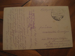 1916 FELDPOST Res. Inf. Rgt 84 , 10 Ko Feldpost 18 Res. Div. Cancel Post Card WW1 WWI Militar GERMANY - Alemania