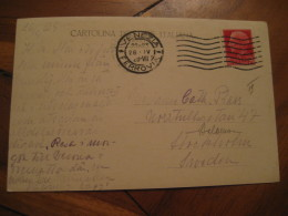VENEZIA 1929 Cancel Dove Pigeon Post Card ITALY - Italia