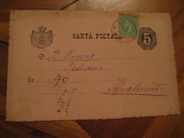1888 ? Stamp On  Postal Stationery Card ROMANIA - Briefe U. Dokumente