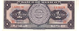 Mexico P.59 1 Peso 1970 Unc - Messico