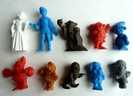 10 FIGURINES PUBLICITAIRES LA ROCHE AUX FEES LOT Série Complète BLANCHE NEIGE ET LES SEPT NAINS PAS DUNKIN Figurine - Figurines