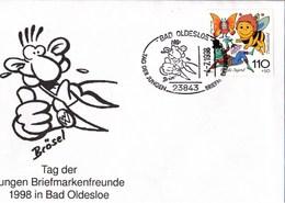 ! 1998 Bad Oldesloe TdJB, 1. Werner Sonderstempel, Schleswig Holstein, Comic, Brösel, Tag Der Jungen Briefmarkenfreunde - [7] Federal Republic