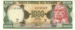 Ecuador P.125 1000 Sucres 1988  Unc - Ecuador