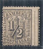 ALLEMAGNE - HAMBURG  Piquage à Cheval  -- 1/2 Noir -- N° 13 Côte Mini 15€ - Hambourg