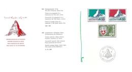 """Faltblatt  """"100 Jahre Erstbesteigung Des Matterhorns - Edward Whymper""""         1965 - Cartas"""