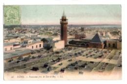 (Tunisie) 314, Tunis, LL Colorisée 26, Panorama Pris De Dar El Bey, Vue Sur Une Mosquée - Tunesië