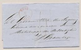 Nederland - 1858 - Omslag Van GOOR Naar 'sGravenhage - Paesi Bassi