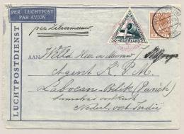Nederlands Indië - 1933 - Zilvermeeuwvlucht Van Hilversum Via Medan/2 Naar LB Laboehanbilik - Nederlands-Indië