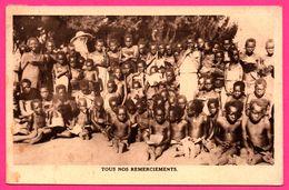 Tous Nos Remerciements - Issavi - Lecture Des Catéchumènes En Plein Air - Enfants - 1933 - Oeuvre Des Missionnaires - Ruanda-Urundi