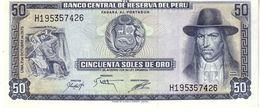 Peru P.107 50 Soles 1975 Unc - Perù