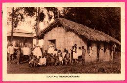 Tous Nos Remerciements - Afrique Equatoriale Mangu - Ecole Sainte Famille - Enfants - 1935 - Oeuvre Des Missionnaires - Ruanda-Urundi