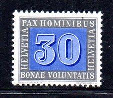 44/1500 - SVIZZERA 1946 PACE PAX : 30 Cent N. 408 *** MNH - Nuovi