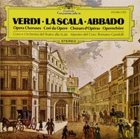 VERDI- LA SCALA- ABBADO.  Choeurs D'Opéra. 1975. 1 CD. - Oper & Operette
