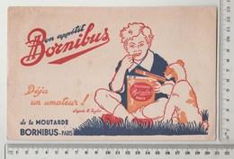BUVARD MOUTARDE BORNIBUS - Moutardes