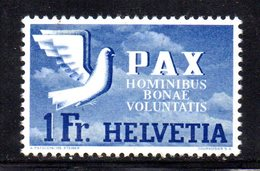 49/1500 - SVIZZERA 1946 PACE PAX : 1 Franco N. 413 *  Linguella Leggera - Suiza