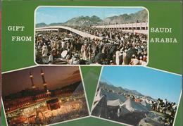 Saudia Gift From Saudi Arabia Saluti Da Arabia Saudita Mecca  ﻣكة المكرّمة, Makka - Arabia Saudita