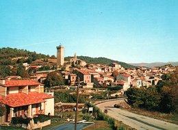 SAINT-MARTIN-DE-BROMES : Vue Générale Avec Sa Tour Carré Du XIVe - Autres Communes