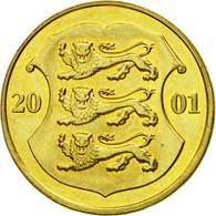 Monnaie, Estonia, Kroon, 2001, No Mint, TTB, Aluminum-Bronze, KM:35 - Estonie