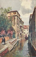 "956 "" VENEZIA - RIO VAN AXEL "" CARTOLINA   ILLUSTRATA ORIG.  NON SPEDIT - Venezia"