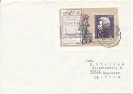 Germany Cover Sent To Denmark Greifswald 10-12-1991 Single Franked Wolfgang Amadeus Mozart Minisheet - [7] Federal Republic