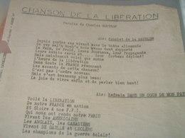 GUERRE 39 -45 / CHANSON DE LA LIBERATION /CHARLES BOUVRON / - Partitions Musicales Anciennes