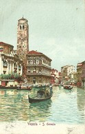 "958 "" VENEZIA - S. GEREMIA "" CARTOLINA   ILLUSTRATA ORIG.   SPEDITA. - Venezia"