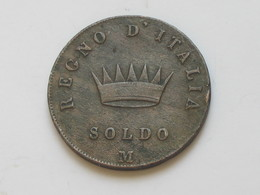 Italie - Italia - 1 Soldo 1809 M - Napoleone Imperatore  **** EN ACHAT IMMEDIAT **** - Temporary Coins