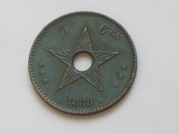 5 Centimes 1888 Léopold II Roi Des Belges  **** EN ACHAT IMMEDIAT **** - Congo (Belgian) & Ruanda-Urundi