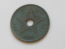 5 Centimes 1888 Léopold II Roi Des Belges  **** EN ACHAT IMMEDIAT **** - Congo (Belge) & Ruanda-Urundi