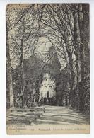 CPA Valmont Entrée Des Ruines De L'Abbaye 709 - Veules Les Roses