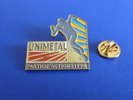 Pin's Unimétal Participations 1992 - Course à Pied Athlétisme (PE53) - Athletics