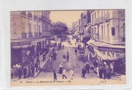 ORAN. LE BOULEVARD DU 2° ZOUAVES. LL. LEVY FILS ET CIE. VOYAGE CIRCA 1919-  BLEUP - Oran