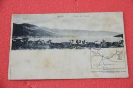 Lago Garda Salò Veduta Cartina Ferrovia Chemin De Fer Brescia Rezzato Vobarno E Valle Sabbia Primi 1900 NV - Italia