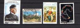 St Kitts Scott N°108.223.420.475.oblitérés Reste D'enveloppe Sur 223 - St.Kitts-et-Nevis ( 1983-...)
