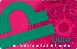 TARJETA TELEFONICA DE VENEZUELA. SIGNOS DEL ZODIACO, LIBRA 7/12, 10/98, CAN2-0402. (458) - Zodiaco