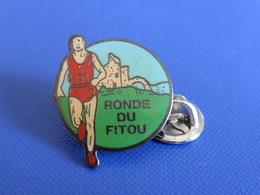 Pin's Ronde Du Fitou - Ruines Chateau - Course à Pied Athlétisme (PE73) - Athletics