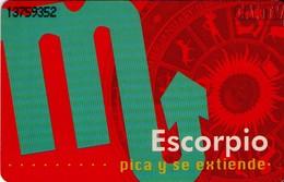 TARJETA TELEFONICA DE VENEZUELA. SIGNOS DEL ZODIACO, ESCORPIO 8/12, 11/98, CAN2-0403Ab. (463) - Zodiaco